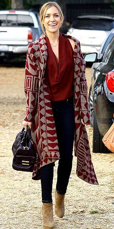 Long sweater cardigan fall outfit.