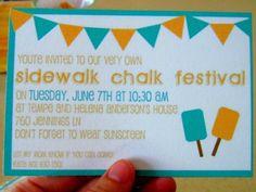 summer sidewalk chalk party