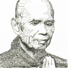 Voices of Compassion: Thich Nhat Hanh, drawing courtesy of Michael Volpicelli