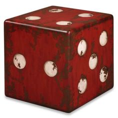 Uttermost Dice Accent Table - BedBathandBeyond.com