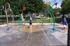 Splashpad at Fontenelle Park in Omaha, Nebraska | #Vortex, #Splashpad, #happysplashpadder, www.vortex-intl.com