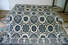 19th century woven wool coverlet