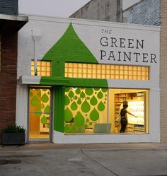 Love how this storefront graphic continues beyond the window. #retail #merchandising #signage #graphic #store