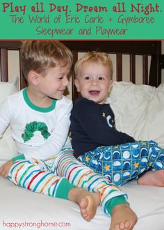 Eric Carle Pajamas and Sleepwear from The World of Eric Carle and @Gymboree! #spon (Also free printable coloring sheets and activities!