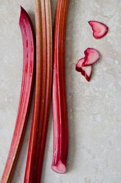 In Season - February. Botanically, Rhubarb is a vegetable, but their thick, fleshy stalks are often treated as a fruit.