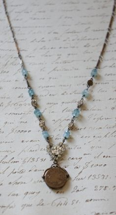 Vintage assemblage necklace