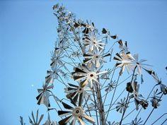 Wind Sculpture featuring dozens of mini turbines