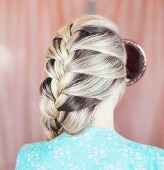 big French braid - back {#frozen #elsa #hair #braids}