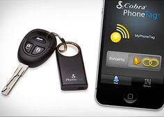 Cobra Tag: No matter which you've lost, you'll be able to find it: Use your phone to find your keys and your keys to find your phone. $80