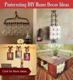 Easy Pinteresting DIY Home Decorating Ideas #homedecor