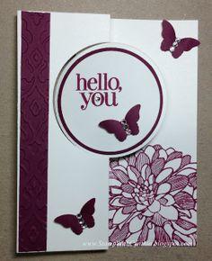 Circle Thinlits Card - Razzleberry Dahlia
