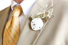 sand dollar bout for a beach wedding ~  photographer: Jennifer Bearden