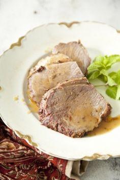 Roast Lamb with Bourbon and Mint #pauladeen