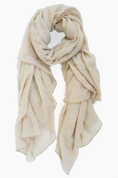 Lightweight and airy, this scarf embodies our top three fashion musts; it's 1) neutral, 2) versatile, and 3) timeless. $30