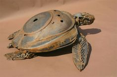 Sea Turtle by Harriet Mead SWLA - Sculpture in scrap metal