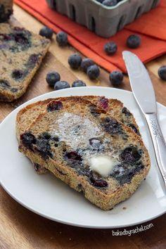 Banana Blueberry English Muffin Bread
