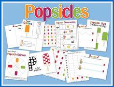 Popsicle unit study #homeschool #preschool #printables