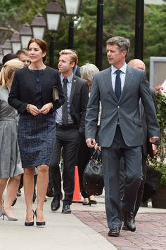 Crown Prince Frederik And Crown Princess Mary Of Denmark Official Visit To Canada - Day 2, 18.09.14