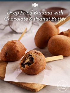 Did someone say Deep Fried Banana (with #Chocolate & Peanut Butter!)?