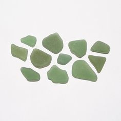 Green Sea Glass Frosted Surf Tumbled for Jewelry Making by JanJat