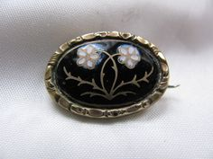 Victorian Mourning Brooch Forget Me Not. $75.00, via Etsy.
