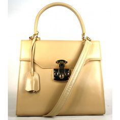 Gucci Beige Smooth Box Leather Kelly Style Top Handle Bag - Rare, Collectors #porteropintowin