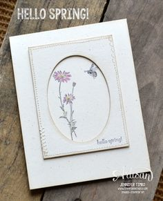 Such a sweet card with the Springtime Hello stamp set.