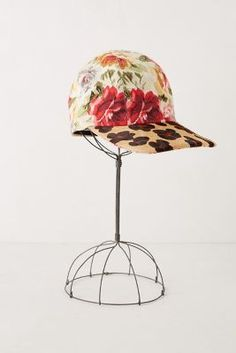 cheetah rose cap