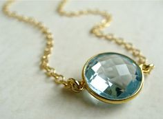 Sola Necklace with Blue Topaz