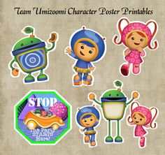 Team Umizoomi Character Posters & Door Sign by GirlyMommaDesigns, $2.00
