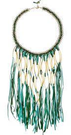 ANTIK BATIK  Elias tasseled suede necklace