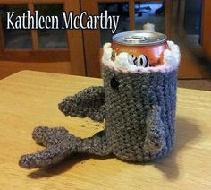 Shark Can Cozy: Free Pattern @Craftsy on Pinterest