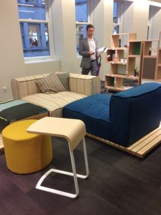 The new Hinchada Modular system by Loewnstein is as sturdy as it is loungy--perfect for work that feels a little less like work. NeoCon 2014