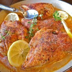 Lemon and Red Pepper Braised Chicken recipe