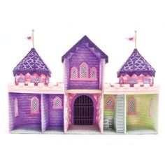 Mary Maxim - Fairy Tale Castle Kit - Plastic Canvas Kits - Plastic Canvas - Crafts