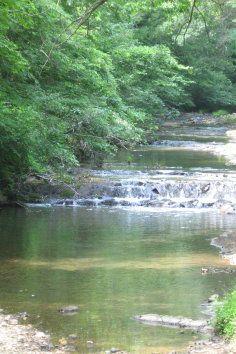 Hot Springs National Park in Arkansas.