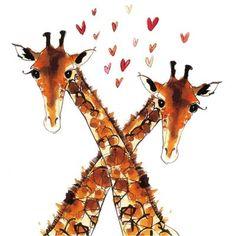 stuff, art, giraffes3, cute giraffe drawing, giraffe love, eyelash, thing, anim magnat