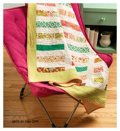 """Pre-cuts make this fun quilt easy. """"Unexpected Treasure"""" by Lisa Chin. Pattern: http://www.interweavestore.com/unexpected-treasure-quilt"""