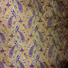 Custom Bespoke Silk Necktie-Woven Orange, Gold, Rich Plum Paisley   NELSON WADE Store $350