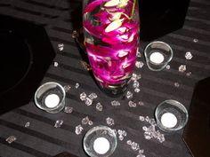 Wedding, Flowers, Centerpiece, Orchids, Fuschia