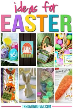 Lots of fun FREE printables and ideas for celebrating Easter with your family!  www.TheDatingDivas.com #Easter #DIY #printable