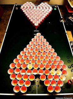 Valentine's Day extreme beer pong