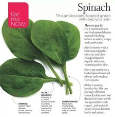 Eating spinach can help lose weight - Pin now and read!