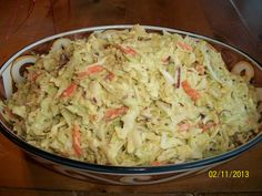 Sweet and Spicy Coleslaw -- Food Network The Neelys {for low carb, sub. the sugar with low calorie sweetener}