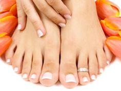 freshly clean and manicured pretty feet