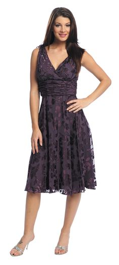 Eggplant Formal Empire Style Dress $122.99