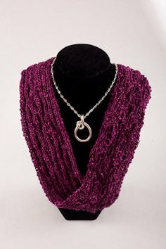 infinity short necklace scarf magenta by AudsHandCrafts on Etsy, $25.00