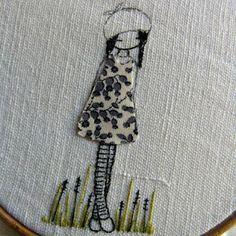 flickr, fun craft, crafti, inspir embroideri, broderi, bordado, appliques, embroideri exampl, embroidery