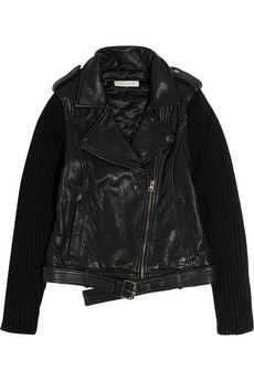 sandro leather and knitted biker..ahh love