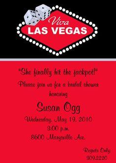 Las Vegas Casino Bridal Shower Invitations by wackykracker on Etsy, $12.00